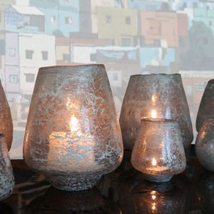 Hand Blown Glass Candle Holder (L)