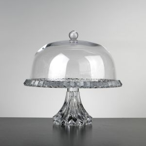 Crown Cake Stand With Domed Lid