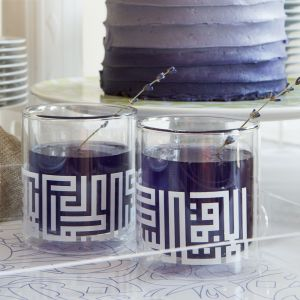 Kufic Glass Double Wall Cup