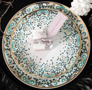 Mirrors Salad Plate - Emerald