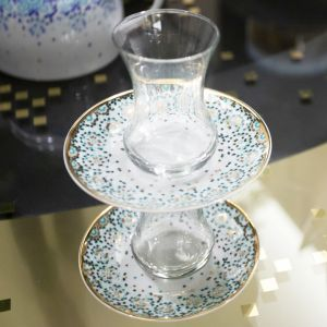Mirrors Teacup - Emerald Green