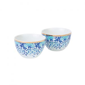 Set of 2 Mirrors Condiment Bowls - Turquoise