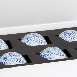 Gift Box of 8 Mirrors Nut Bowls