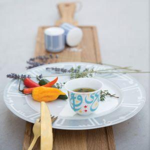 Tarateesh Arabic Coffee Cup - Turquoise