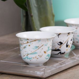 Accents Arabic Coffee Cup - Turquoise