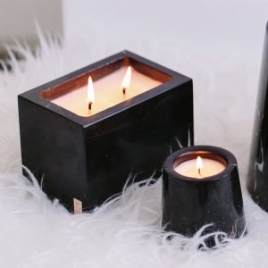 Pebble Sands Rectangular Marble Candle
