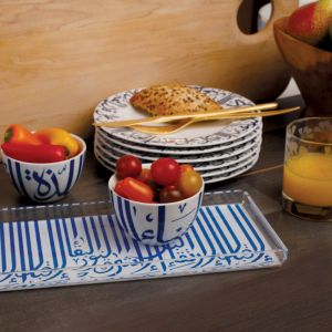 Long Ghida Tray - Navy Blue