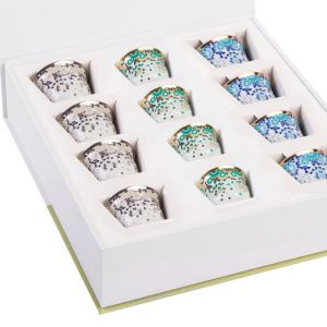 Gift box of 12 Mirrors Arabic Coffee Cups